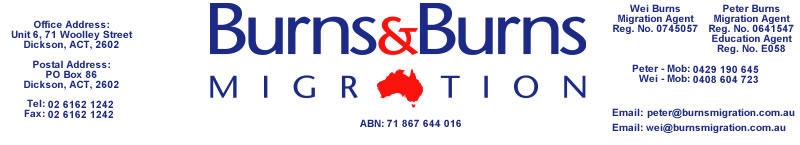 Burns & Burns Migration for friendly, professional service. Serving Canberra and surrounding regions.